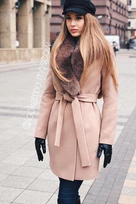 Короткое пальто шерстяное на зиму 2019-2020