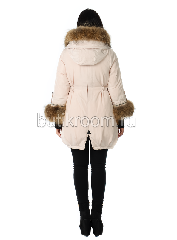 Женская теплая парка фасон юбка с мехом