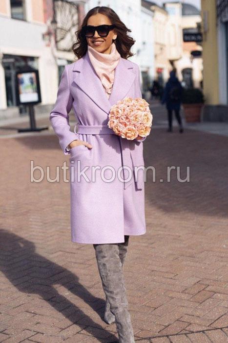 Недорогое пальто женское розовое