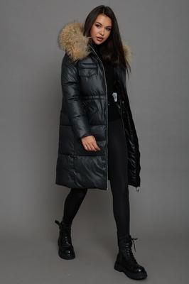Модный брендовый пуховик женский с юбкой