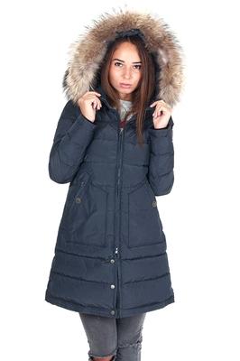 Теплая женская куртка-аляска с мехом в интернет магазине