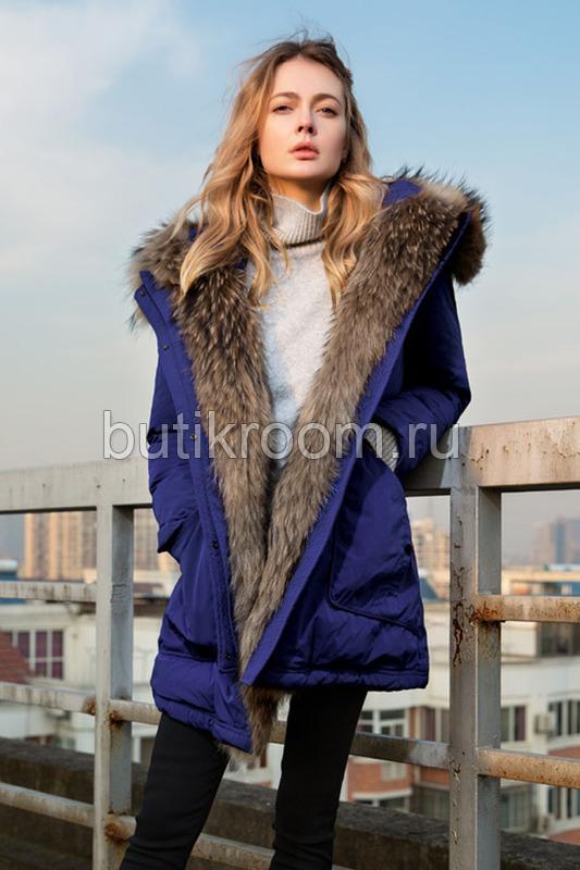 Зимняя куртка парка с мехом внутри