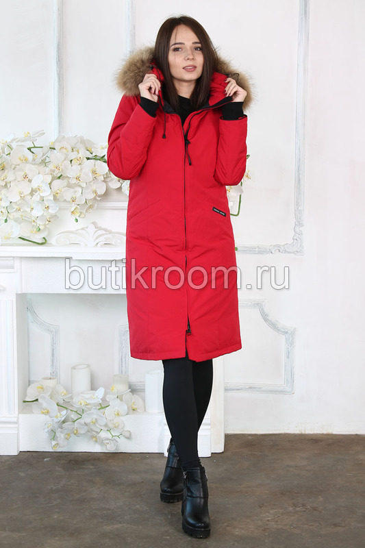 Длинная женская куртка парка аляска для зимы