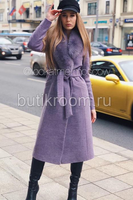 Женское пальто расклешенное от талии