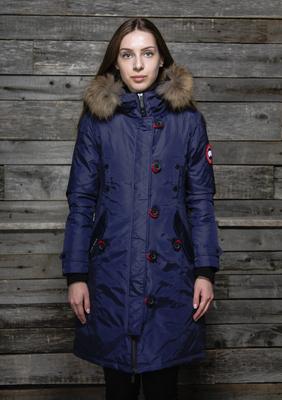 Зимняя куртка Canada goose женская с мехом в интернет магазине Москвы